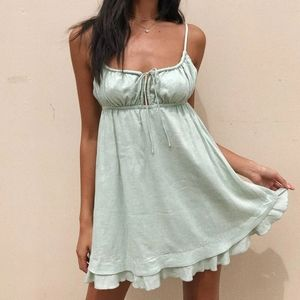 Princess Polly Green Empress Of Love Mini Dress 6